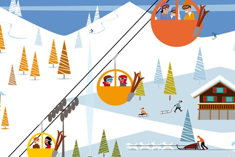 Picture of ski lifts