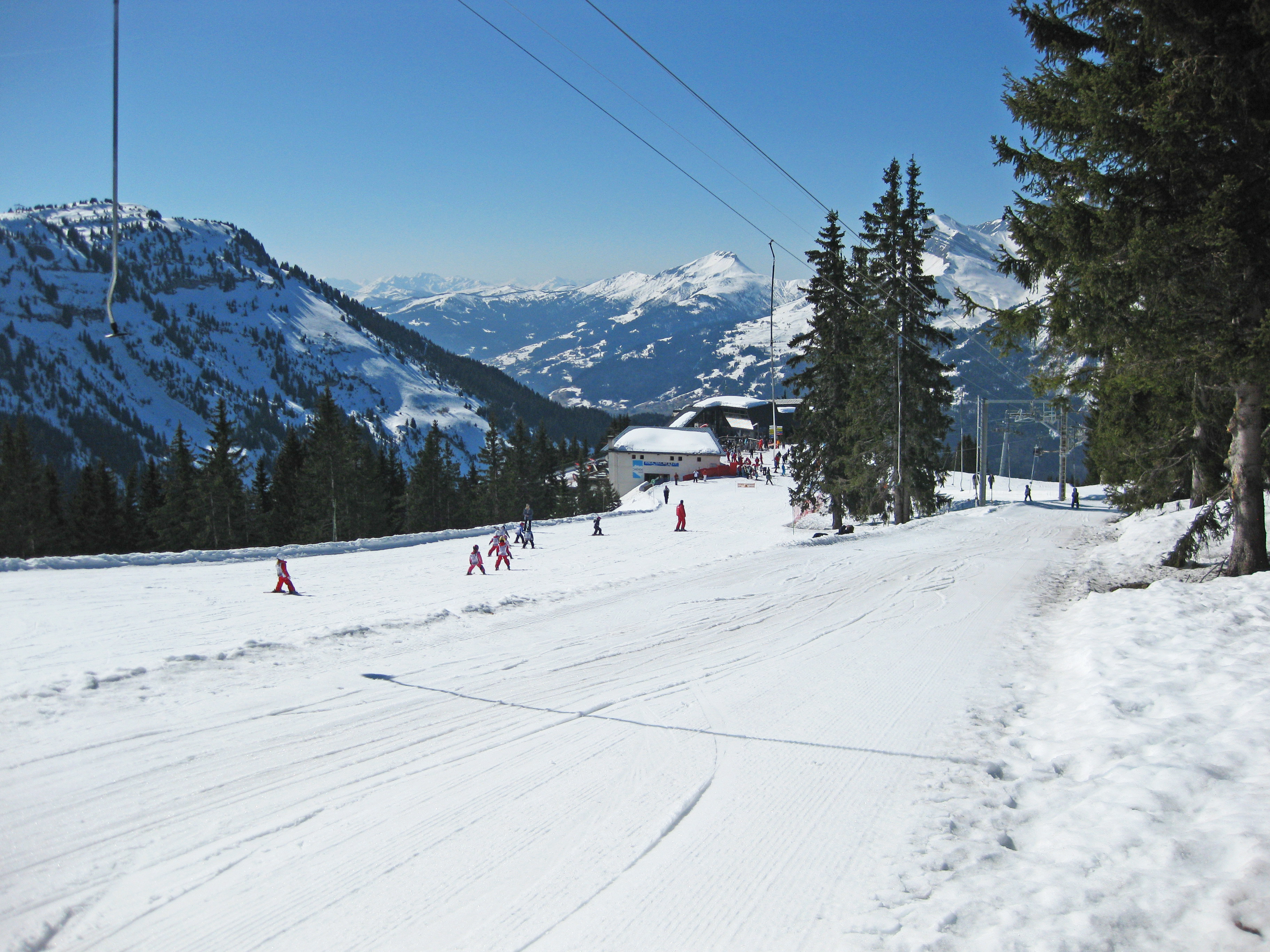 Les Carroz Beginner Ski Slopes