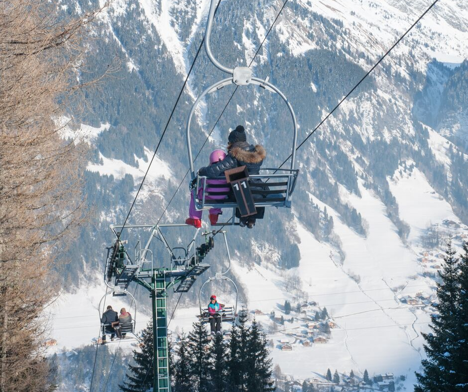 St Gervais new ski lift