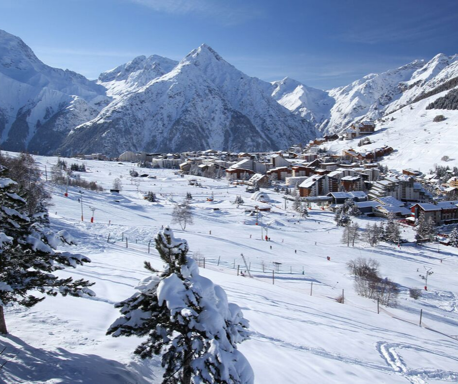 Les Deux Alpes resort and ski area