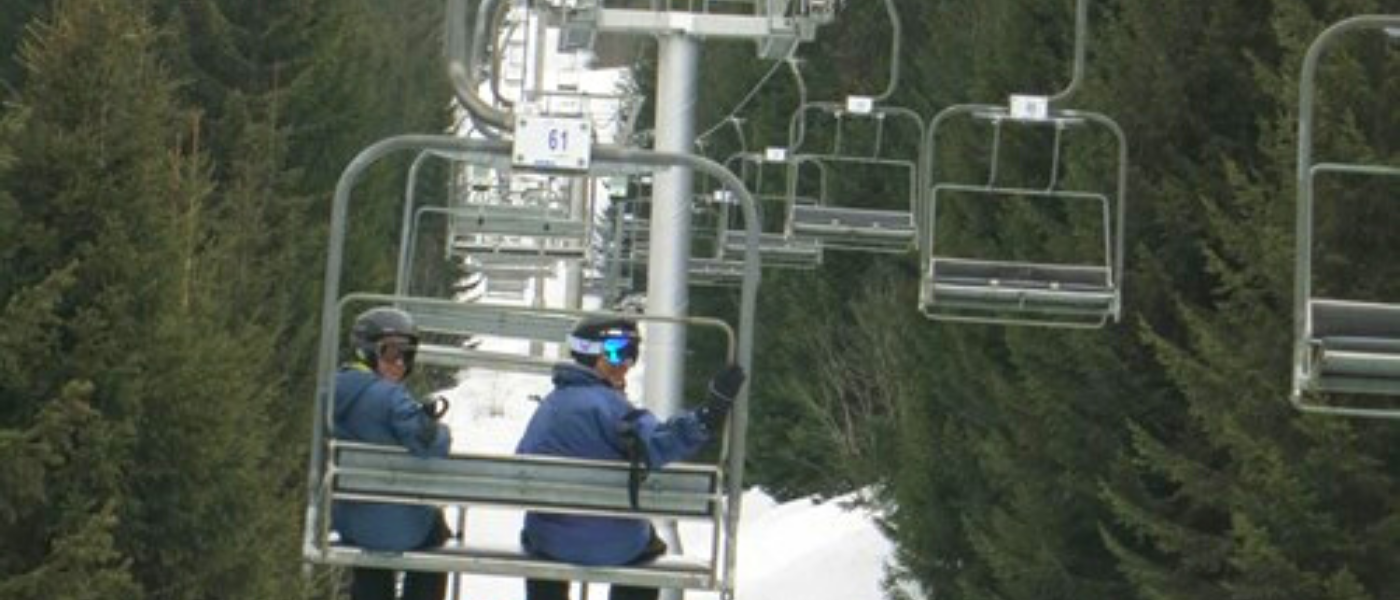 Chairlift in le Grand Bornand