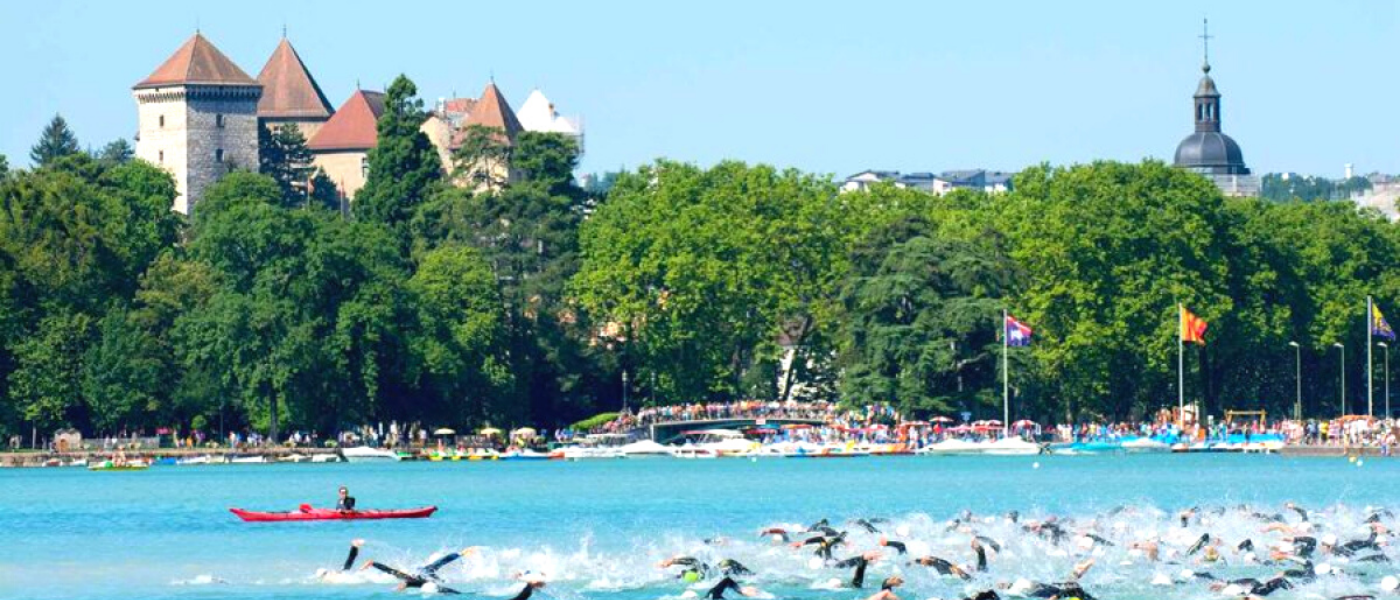 International triathlon at Lake Annecy