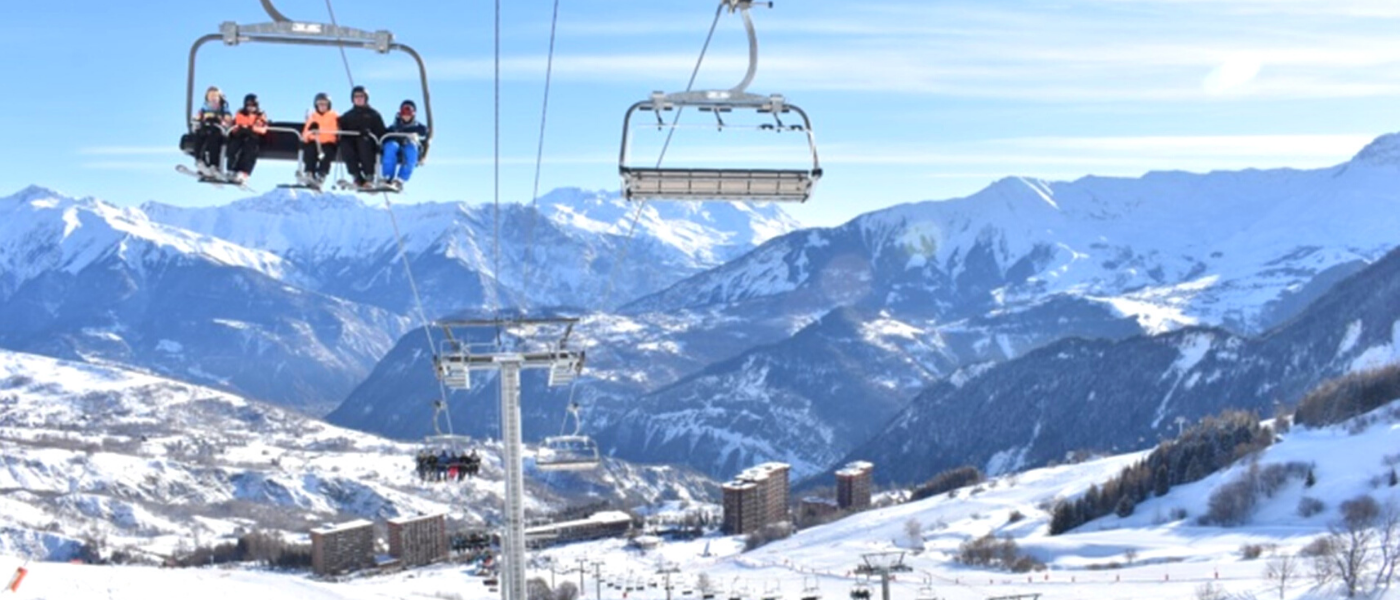 Le Corbier ski resort, Les Sybelles ski area French Alps