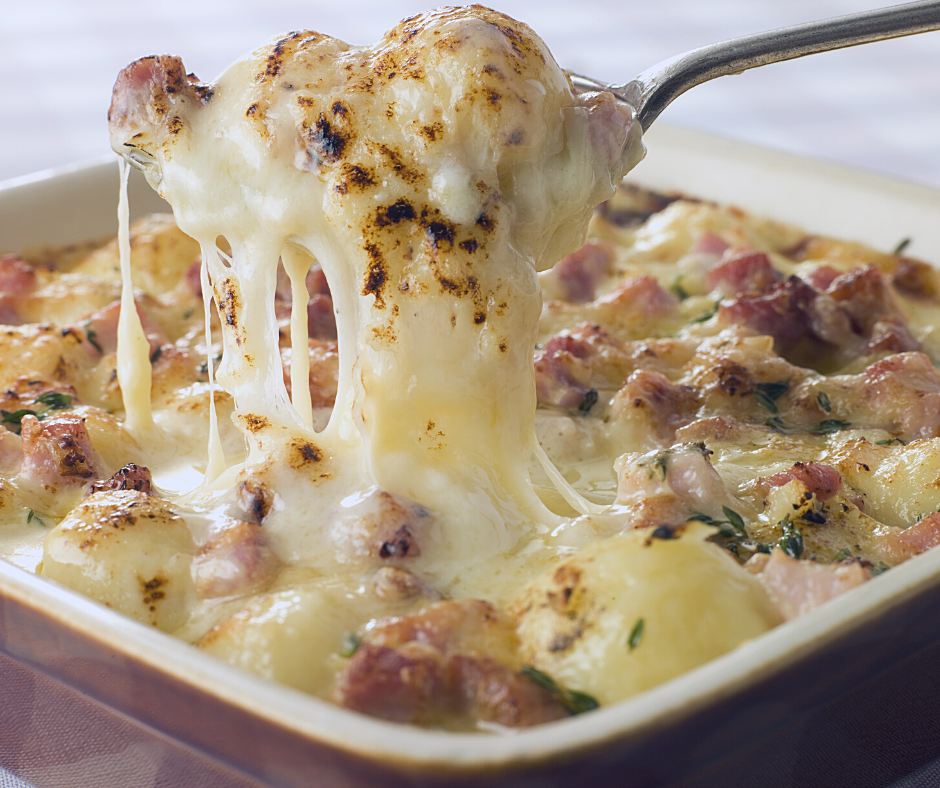 Traditional alpine dish - Tartiflette
