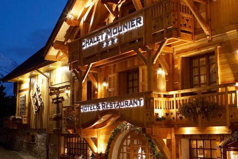 Chalet Mounier hotel and restaurant Les Deux Alpes