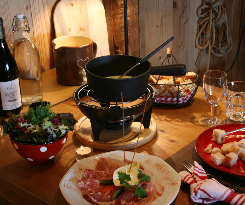 Alpine Cheese Fondue in self catering accommodation