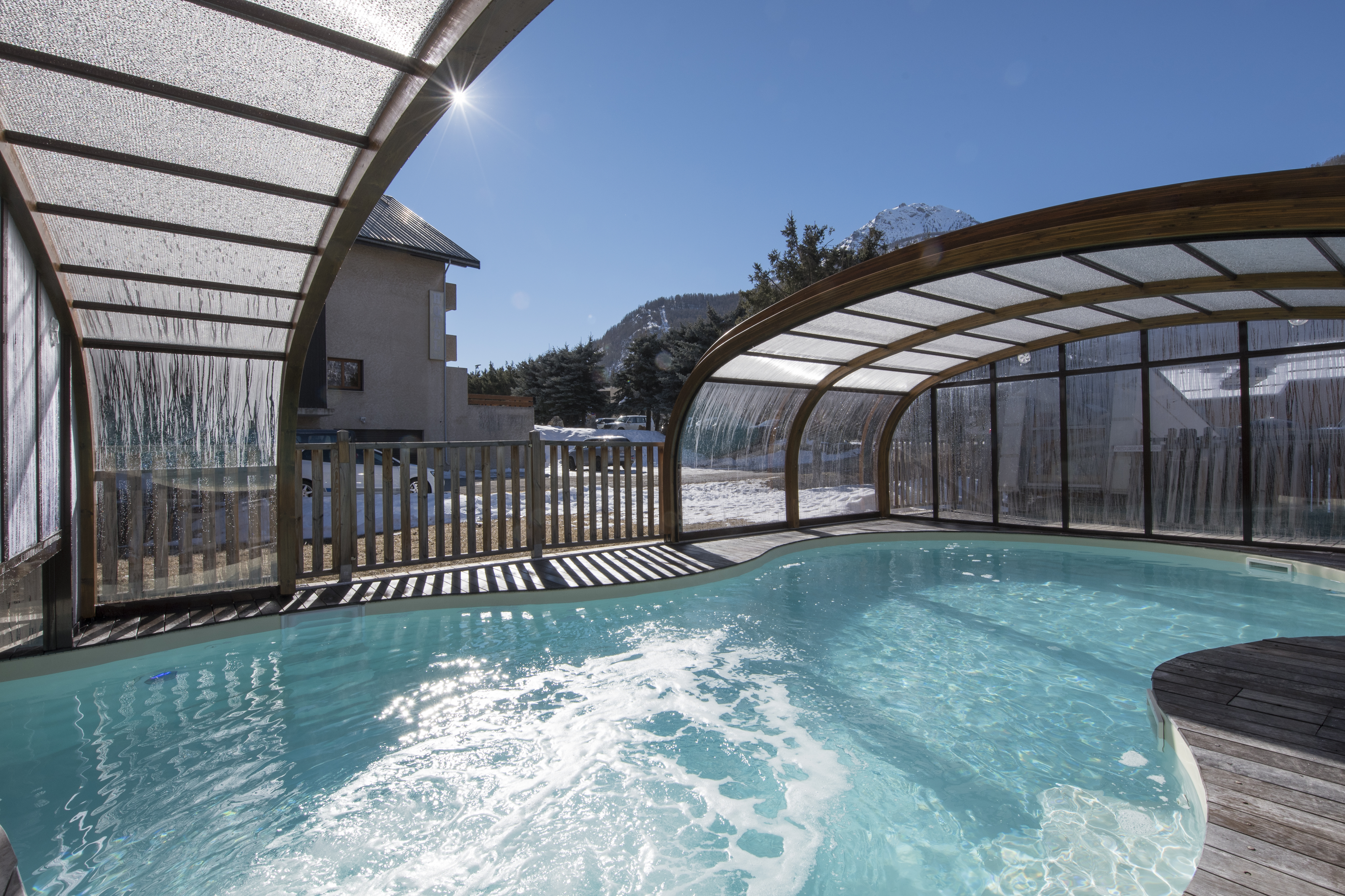 L'Adret (Serre Che) Covered Outdoor Pool
