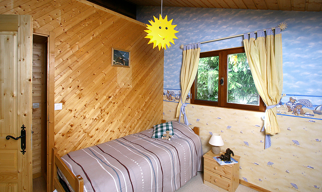 Chalet Jon, Les Deux Alpes (self catered chalet) - Twin bedroom