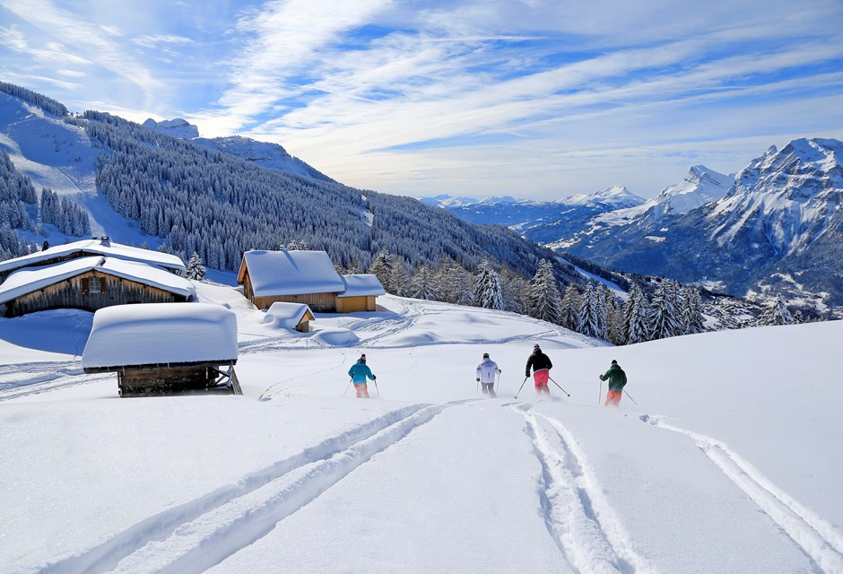 Les Carroz Ski Slopes