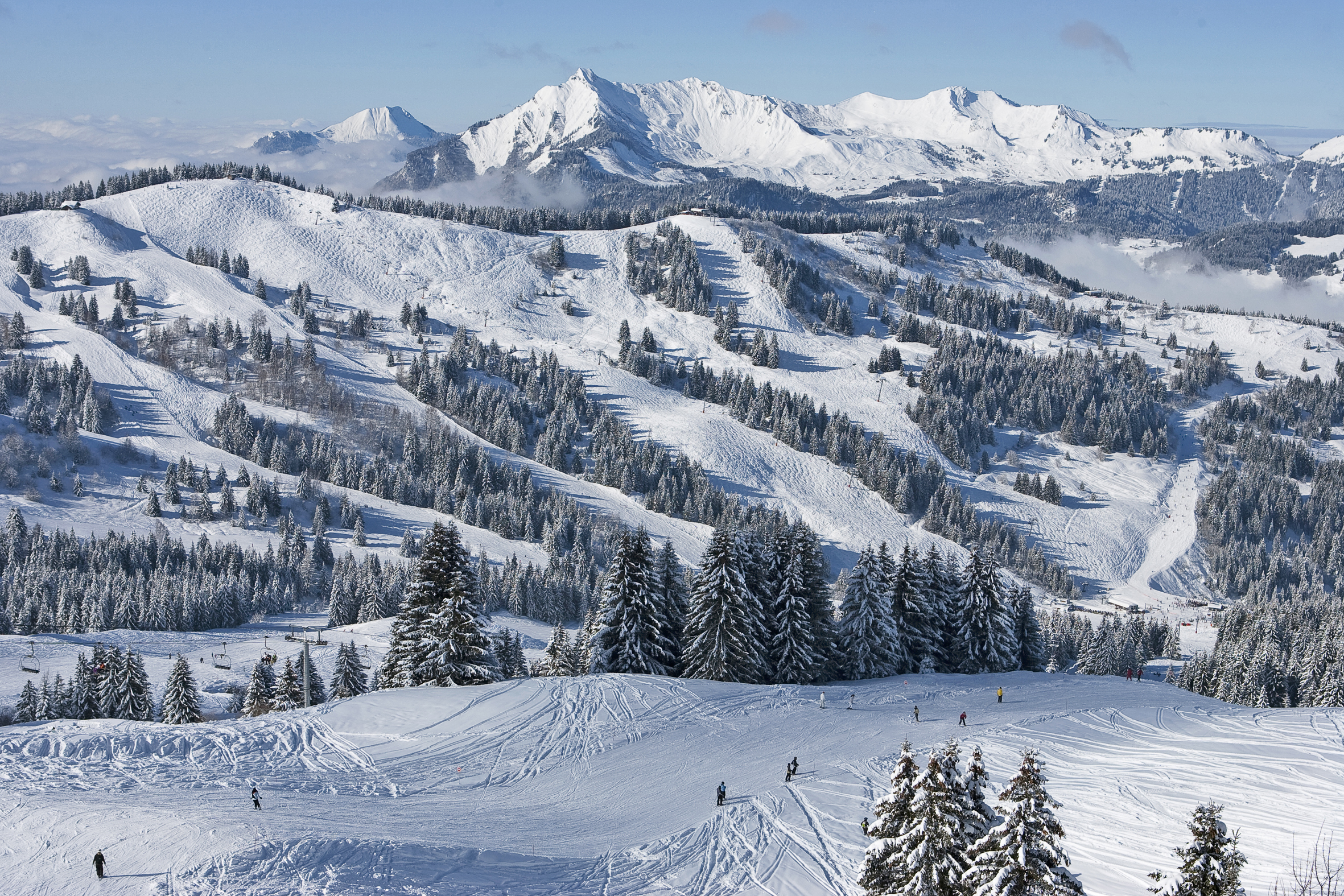 Les Gets ski area, French Alps