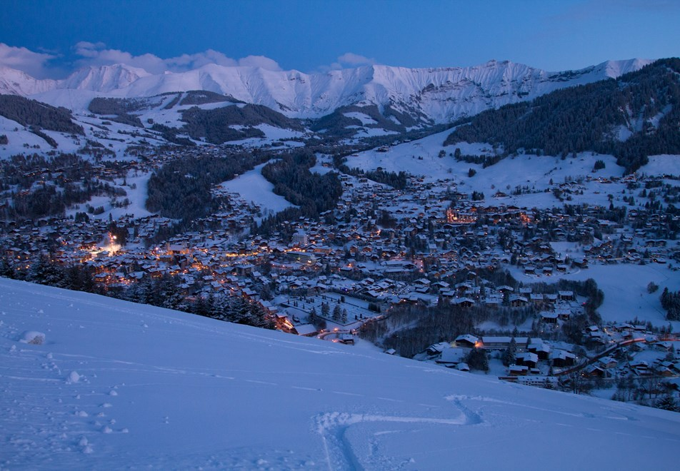 Megeve at night