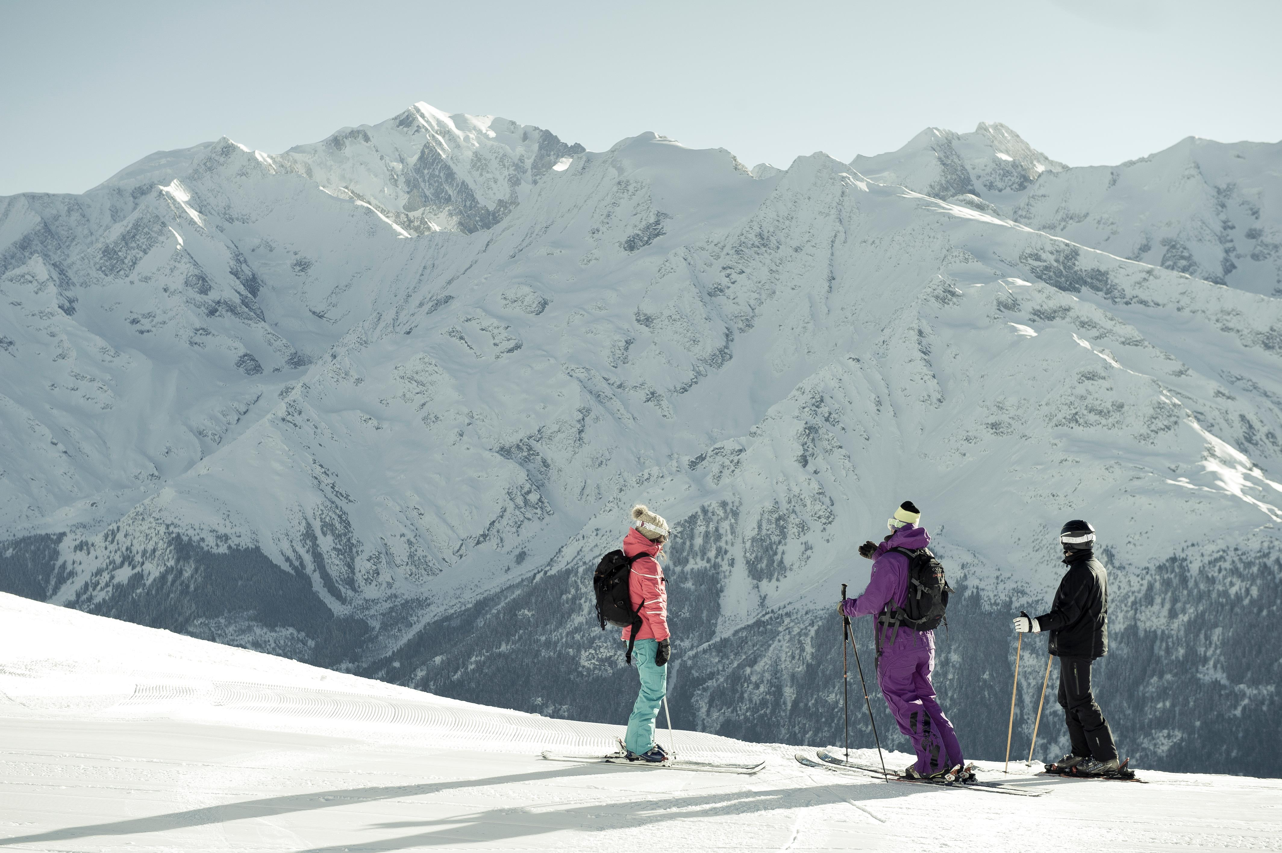 Skiing in Les Contamines © (N.JOLY)