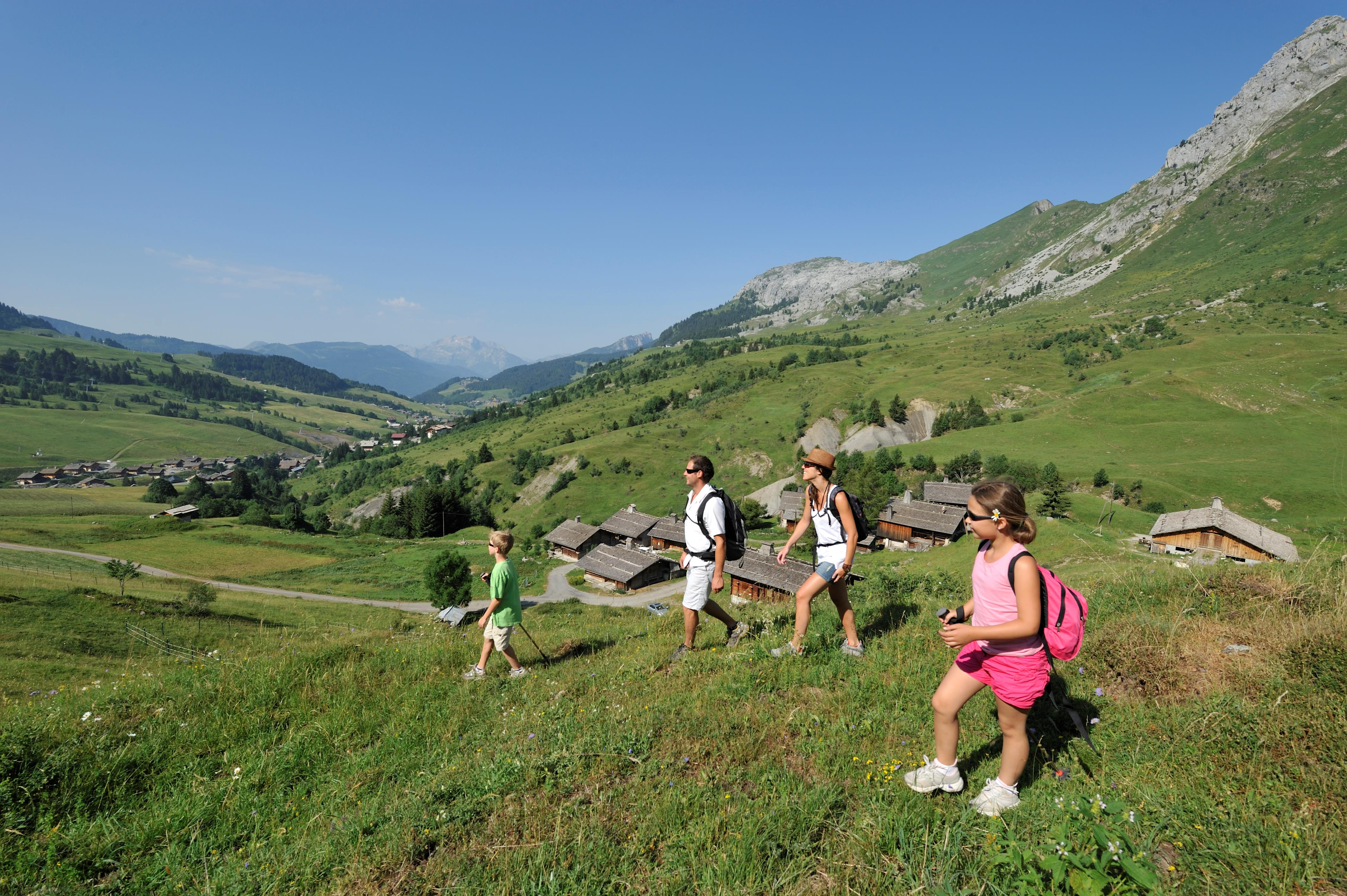 Walkers in the French Alps