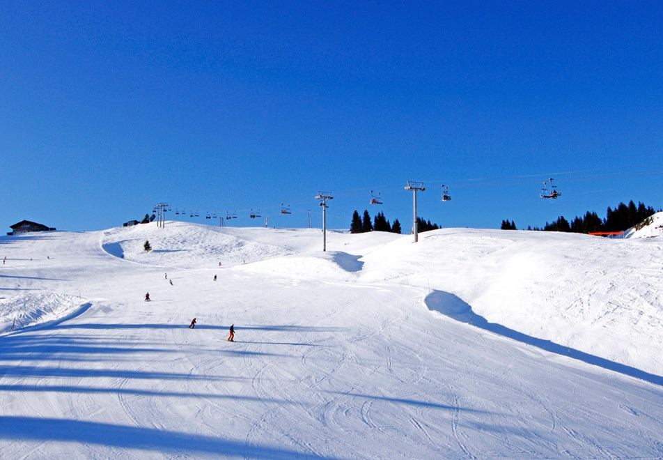 Ski slopes in Morillon