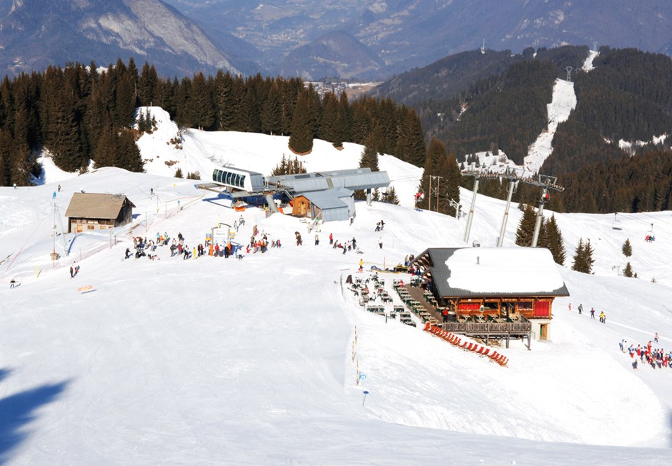 Top of Morillon Ski Slopes