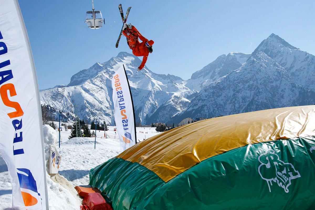 Les Deux Alpes Big Air Bag © (Bruno Longo)