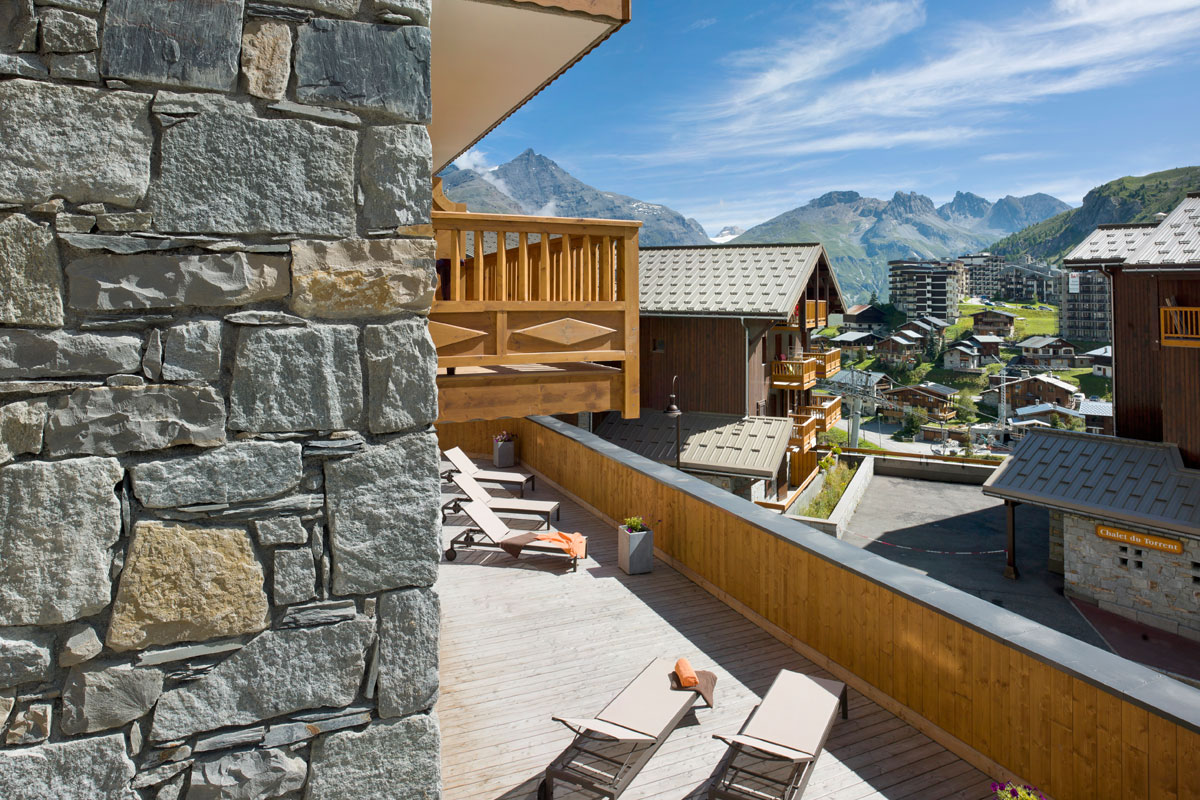 Le Telemark, Tignes les Lac (self catered apartments) - Balcony Views
