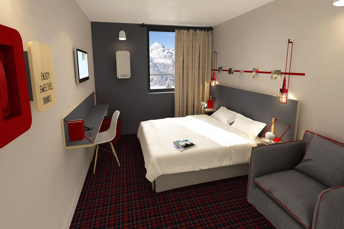 RockyPop (Chamonix) RockyDuo Room Artists Impression