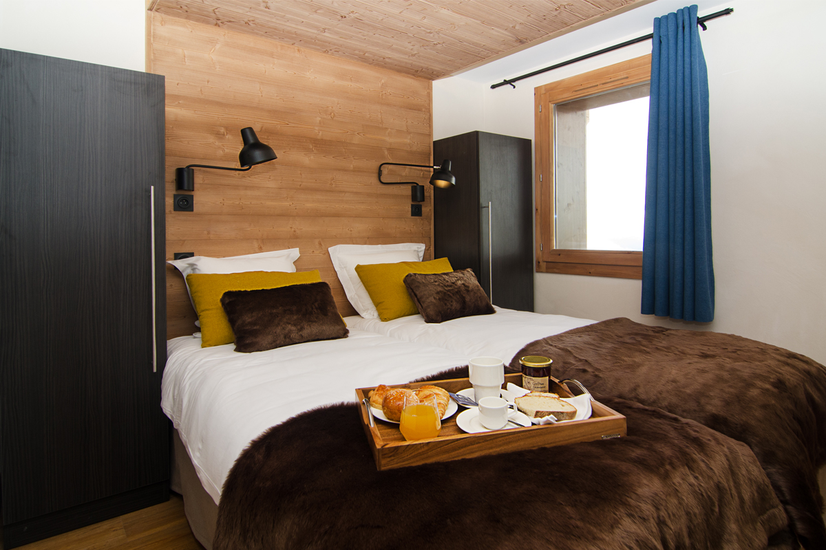 Les Armaillis (self catered apartments), Les Saisies - Twin bedroom