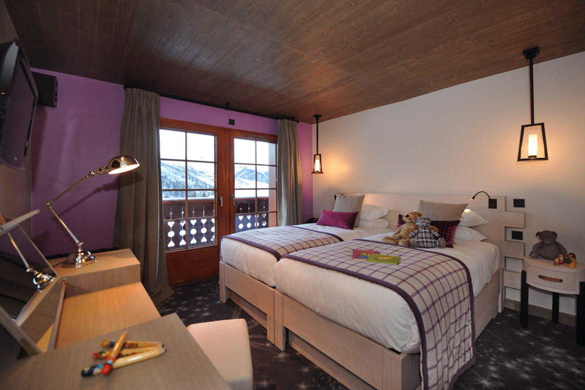Club Med Valmorel Chalet All Inclusive, Valmorel (Grand Domaine) - Twin Bedroom 'Comfort'
