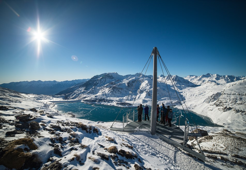 Val Cenis Ski Resort - View point at 2800m over Lac du Mont Cenis