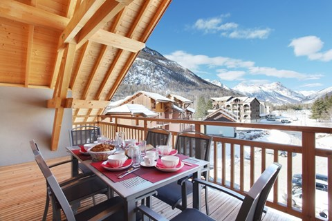 Aquisana, Serre Chevalier (self catered apartments) - Balcony