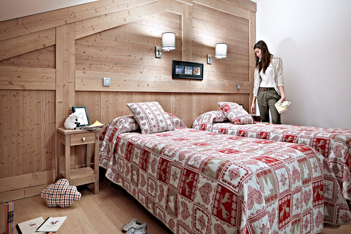 Le Ruitor, Sainte Foy (self catered apartments) - Twin Bedroom