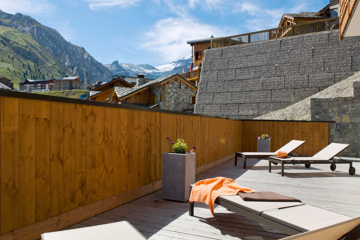 Le Telemark, Tignes les Lac (self catered apartments) - Terrace