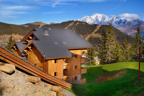 Hameau du Beaufortain, Les Saisies (self catered apartments) - Views of Mont Blanc