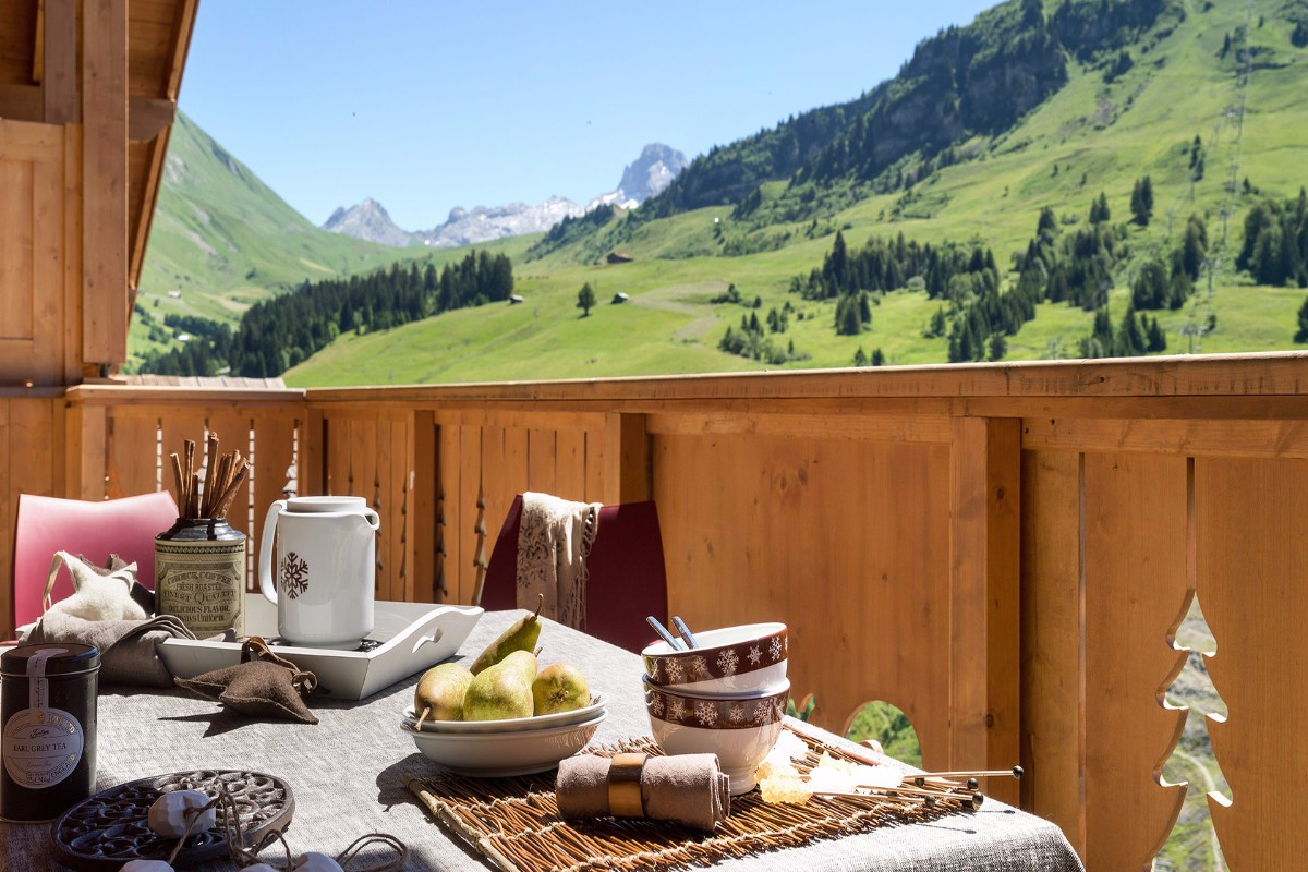 Le Village de Lessy, Le Grand Bornand (self catered apartments) - Balcony views