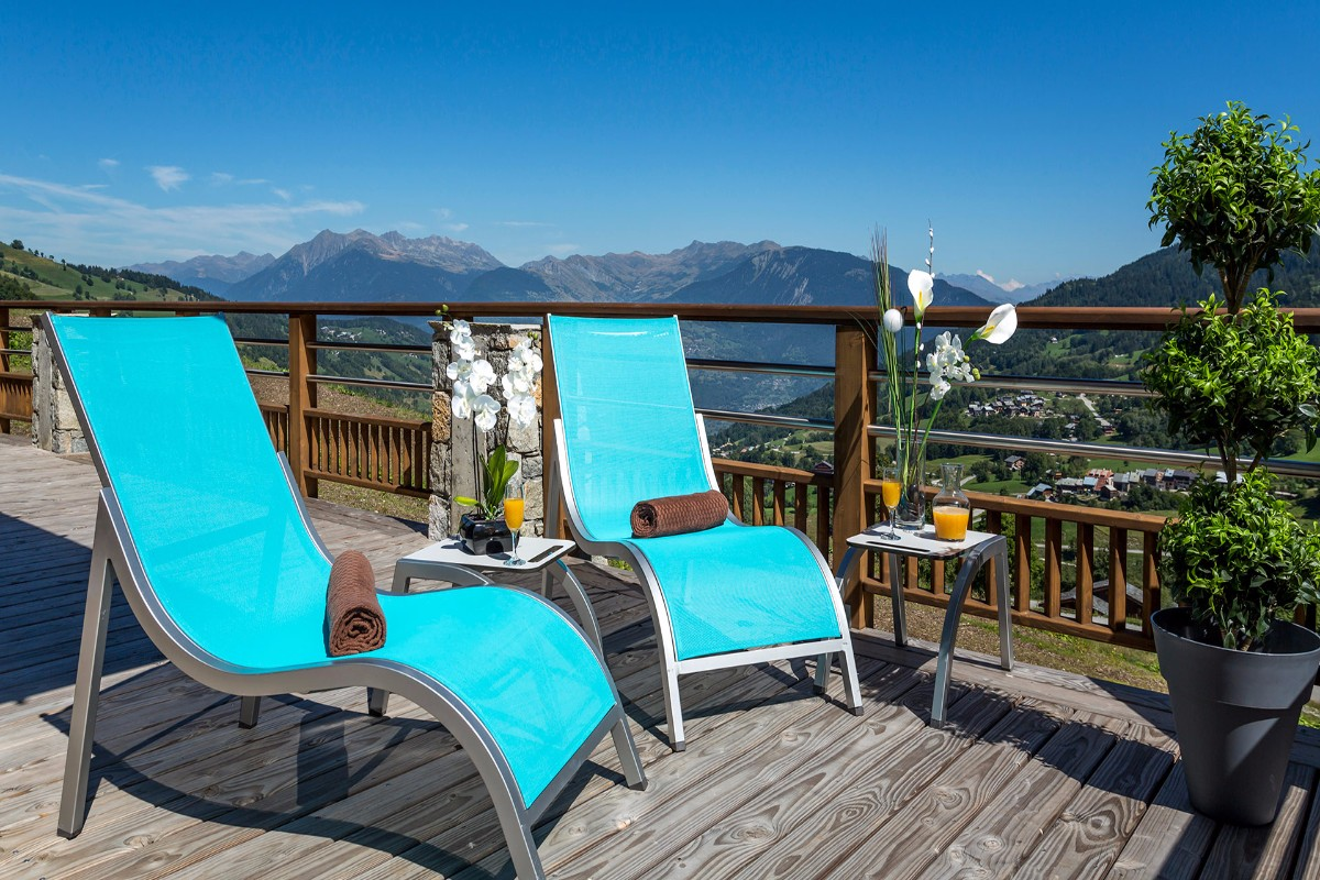 Grange aux Fees, Valmorel (self catered apartments) - Terrace