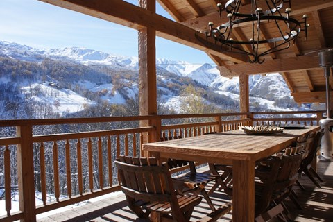Chalet Rose, St Martin de Belleville (self catered chalet) - Balcony