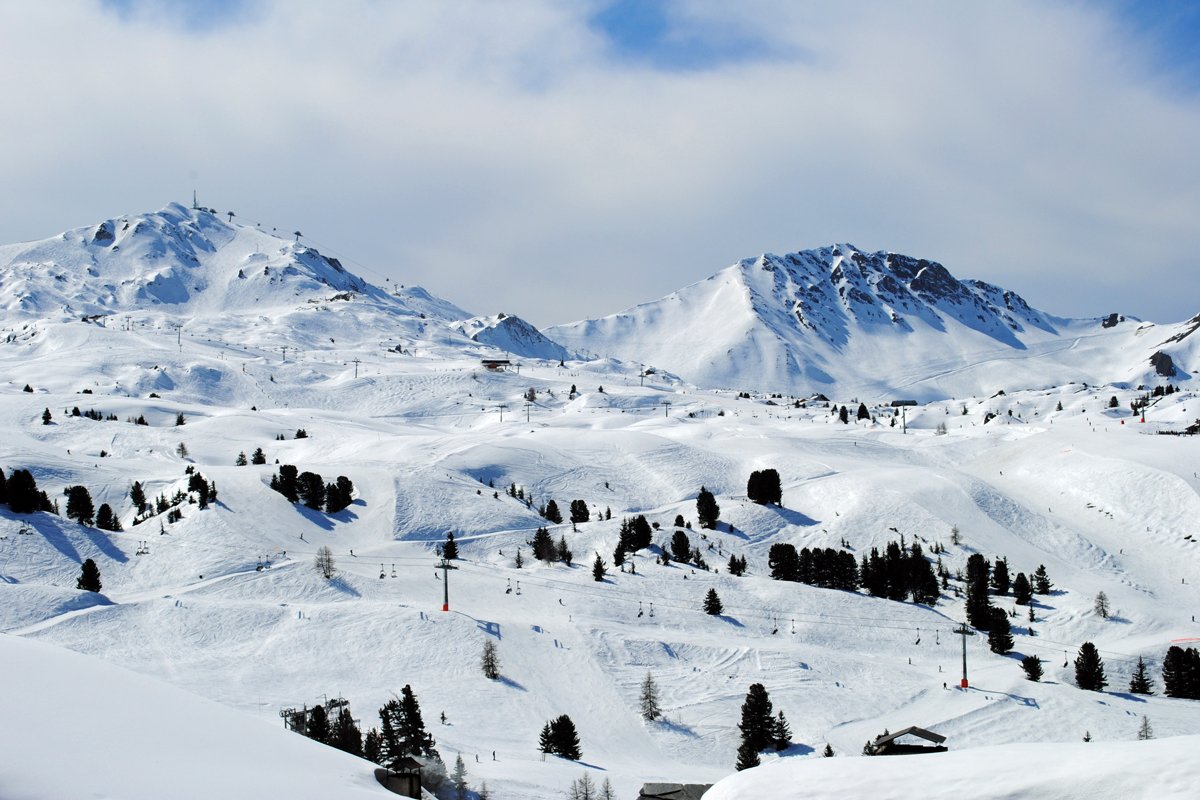 Our view over the La Plagne part of the Paradiski ski area