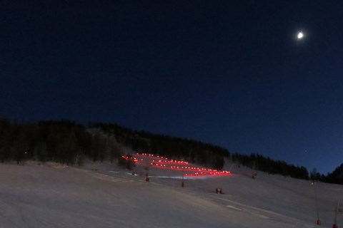 The ESF torchlit descent on Christmas Eve