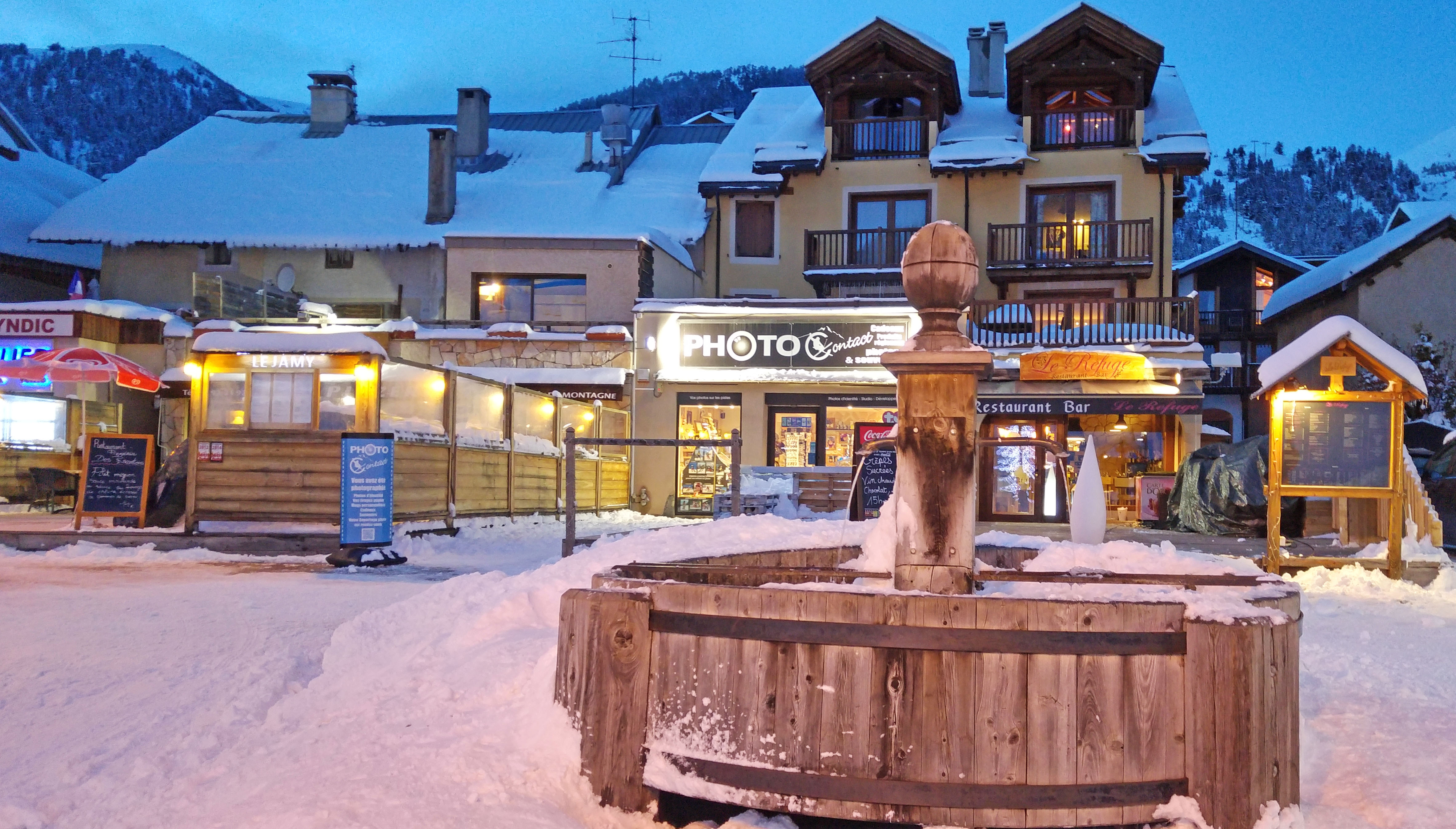 Montgenevre ski resort - village centre