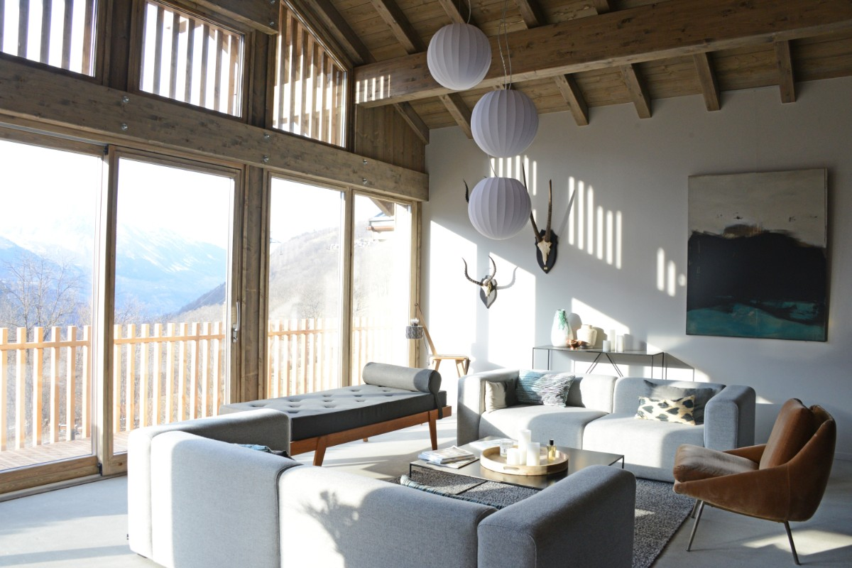 Home (Chalet 2), St Martin de Belleville (self catered chalet) - Living area with balcony