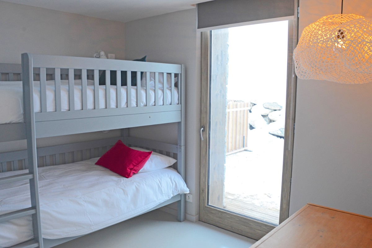 Home (Apartment 5), St Martin de Belleville (self catered apartment) - Bunk beds