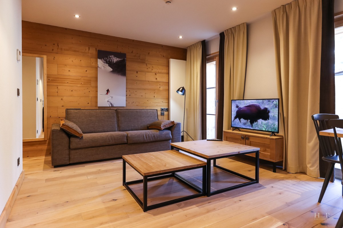 Fermes du Mont Blanc, Combloux (self catered apartments) - Living area