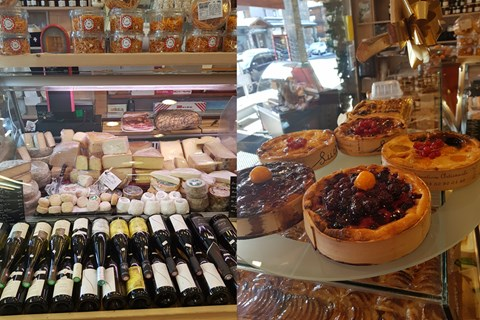 Some of the Savoyard food on offer at the local shops