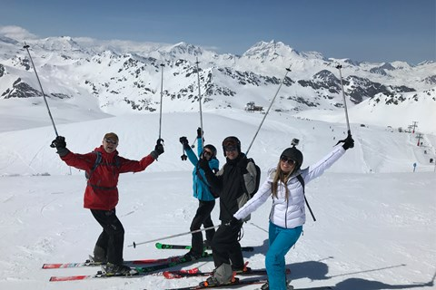 Tignes, April, taken by the ESF tour guide