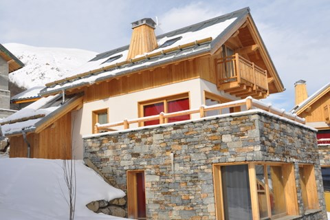 Chalet Le Mas, Valloire (self catered chalet) - Large terrace