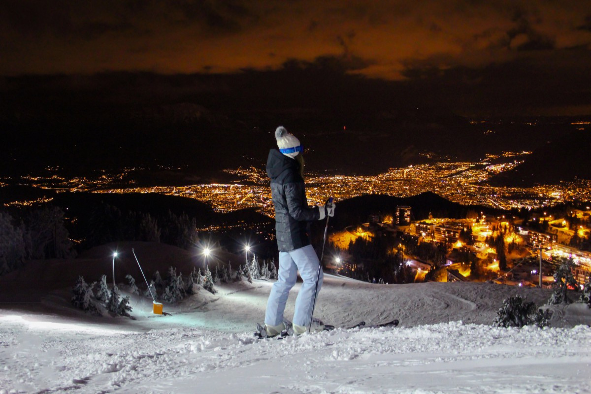 Night Skiing Chamrousse