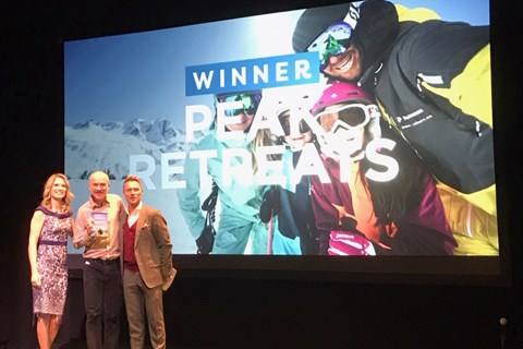 Peak Retreats is awarded Family Traveller's Best Family Ski Operator award 2018